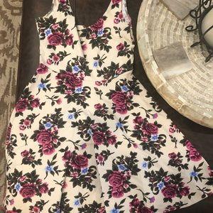 Summer dress with flower pattern